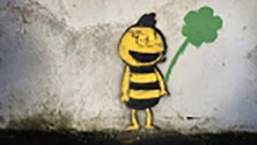 Sight of the bumble bee: Dublin buzzes over mysterious graffiti